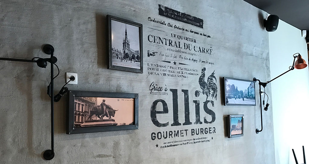 Ellis Luik ontwerp/uitvoering kaders, letterschilderen, illustraties, enz